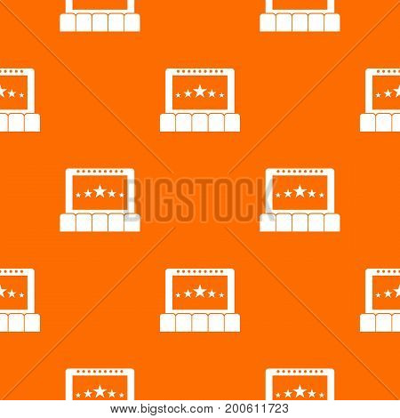 Cinema pattern repeat seamless in orange color for any design. Vector geometric illustration