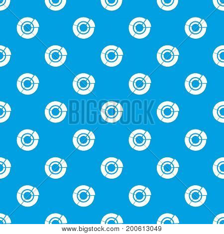 Pie chart for infographic pattern repeat seamless in blue color for any design. Vector geometric illustration