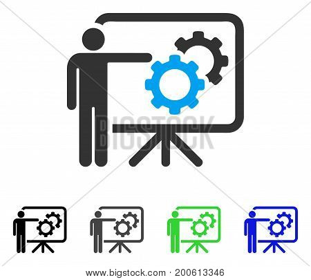 Mechanics Report Board flat vector pictogram. Colored mechanics report board, gray, black, blue, green icon versions. Flat icon style for web design.
