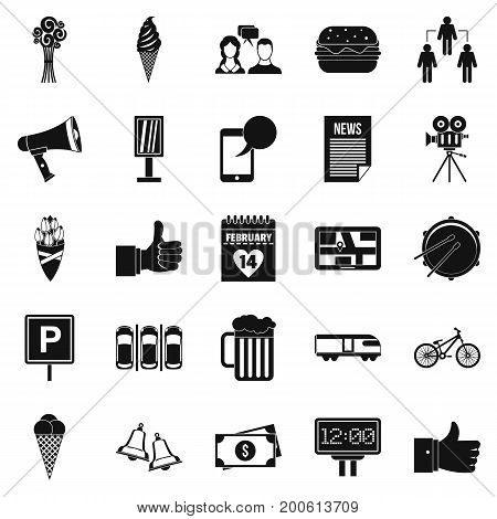 Incident icons set. Simple set of 25 incident vector icons for web isolated on white background