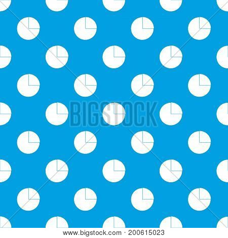 Graphs chart statistic pattern repeat seamless in blue color for any design. Vector geometric illustration