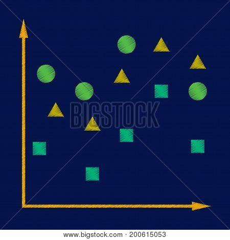 flat shading style icon Geometric chart presentation