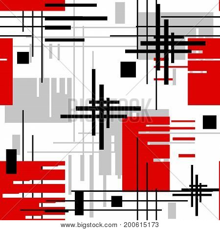 Seamless modern lined shapes pattern abstract, design
