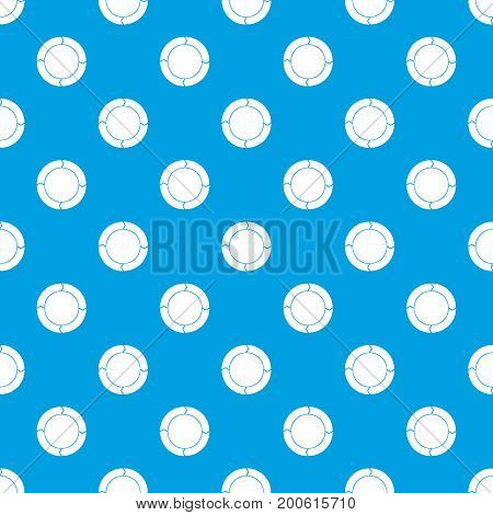 Diagram pie chart with arrows pattern repeat seamless in blue color for any design. Vector geometric illustration