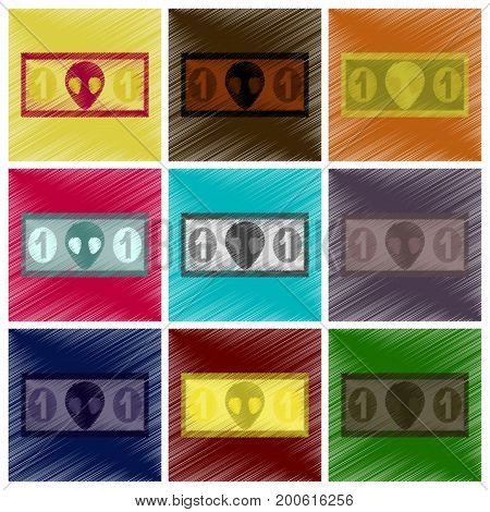 assembly flat shading style icon currency cash