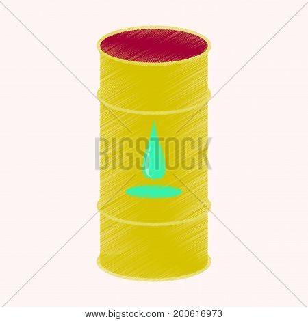 flat shading style icon Barrel of oil
