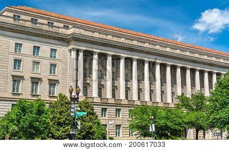 The Internal Revenue Service Building in Washington DC, USA