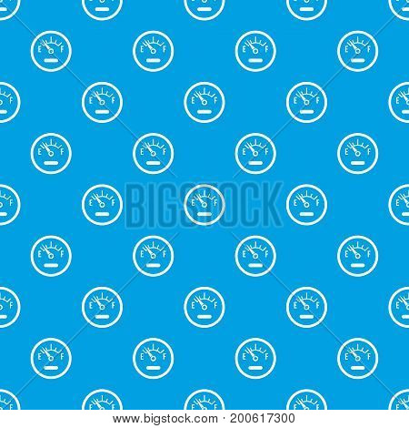 Fuel sensor pattern repeat seamless in blue color for any design. Vector geometric illustration