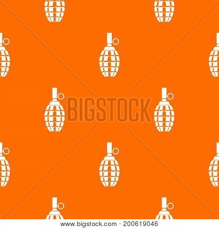 Grenade pattern repeat seamless in orange color for any design. Vector geometric illustration