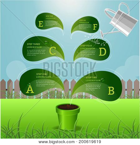 Tree a growth inforaphic element concept design.can used for presentation business chart data education and timeline ecology sustainability template.Vector illustration