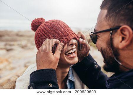 Loving Couple Having Fun Outdoors