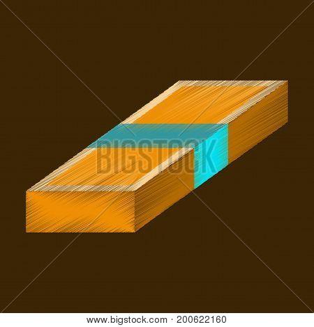 flat shading style icon Bundle of money