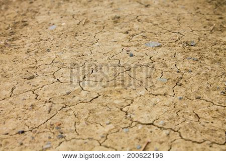 Dry land dirt texture background light pattern