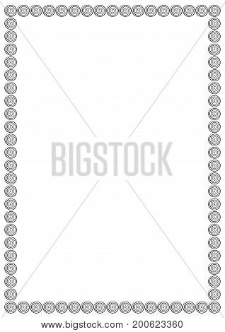 Vector Page Border A4 Design For Project