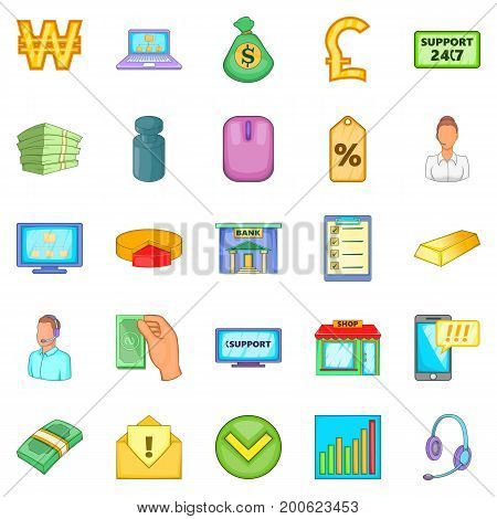 Duty icons set. Cartoon set of 25 duty vector icons for web isolated on white background