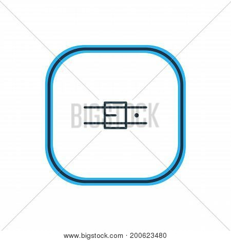 Beautiful Clothes Element Also Can Be Used As Strap Element.  Vector Illustration Of Belt Outline.