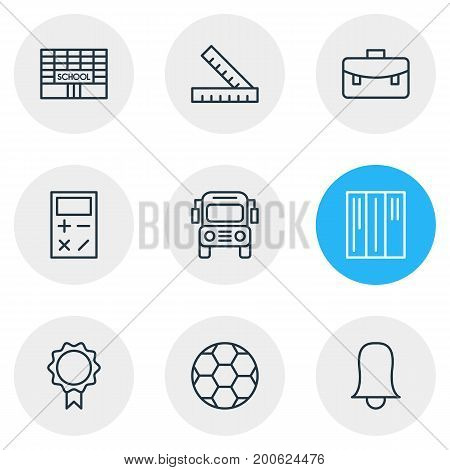 Editable Pack Of Car, Meter, Football And Other Elements.  Vector Illustration Of 9 Studies Icons.