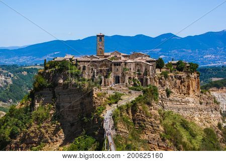 Village Civita di Bagnoregio in Italy - architecture background