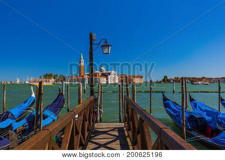 San Giorgio Maggiore church in Venice Italy - architecture background