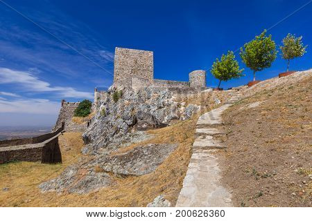 Fortress in village Marvao - Portugal - architecture background