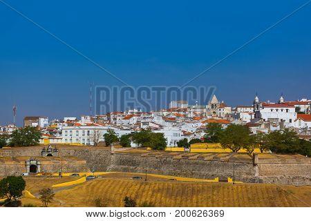Old town Elvas - Portugal - architecture background