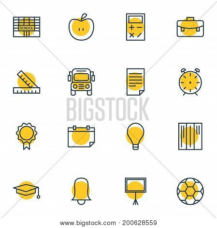 Editable Pack Of Trophy, Clock, Meter And Other Elements.  Vector Illustration Of 16 Science Icons.