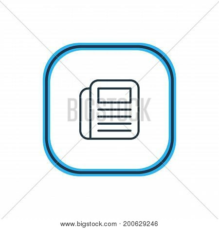 Beautiful Workplace Element Also Can Be Used As Journal  Element.  Vector Illustration Of Newspaper Outline.