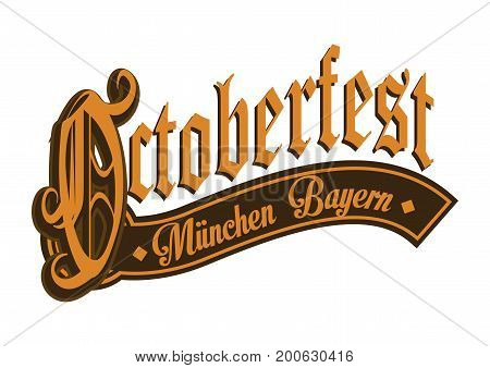 Octoberfest gothic calligraphic hand lettering. Vector illustration