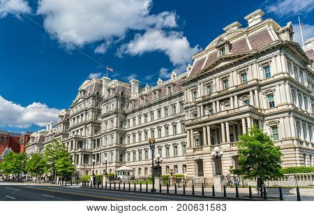 The Eisenhower Executive Office Building, a US government building in Washington, D.C. United States