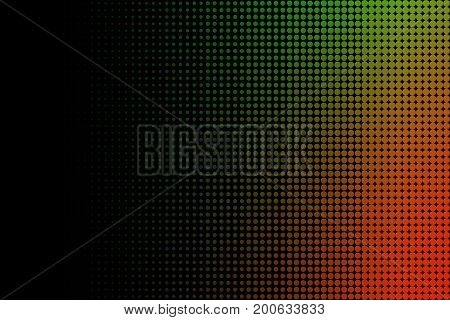 Orange and Green Radial Dotted Halftone Abstract Pattern Background