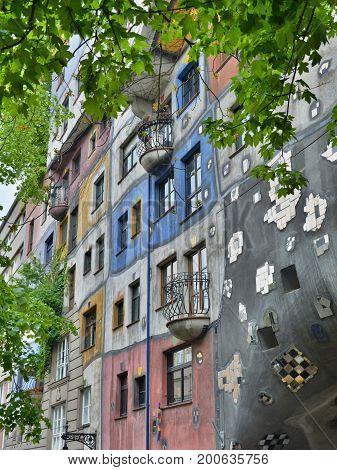 Hundertwasserhouse In Vienna