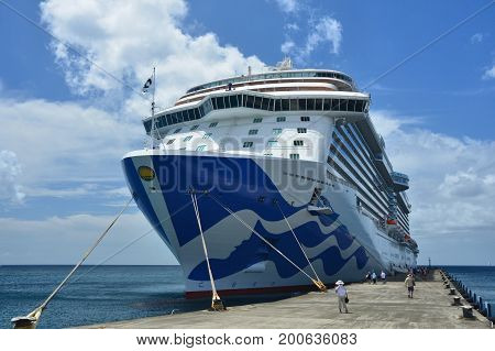 Royal Princess Ship In Grenada Port
