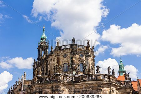 Main Cathedral In Dresden