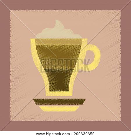 flat shading style icon cup coffee mocha