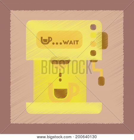 flat shading style icon coffee electronic machine