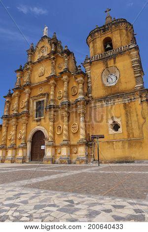 Recoleccion Church in Leon Nicaragua - UNESCO World Heritage Site of Nicaragua
