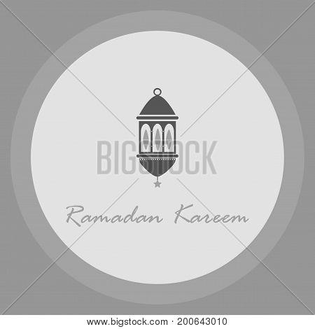 Icon in a flat style Ramadan oriental lantern