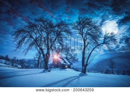 Night Carpathian Village