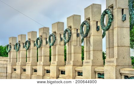 National World War II Memorial in Washington, D.C. United States
