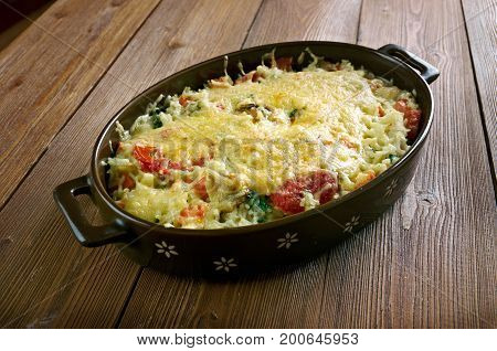 Casserole Of Rice, Vegetables
