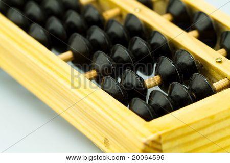 brown abacus closeup