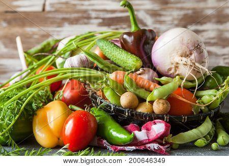 Assortment Of Raw Fresh Vegetables