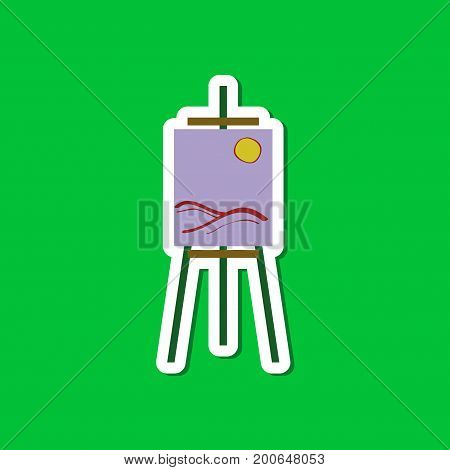 paper sticker on stylish background of picture