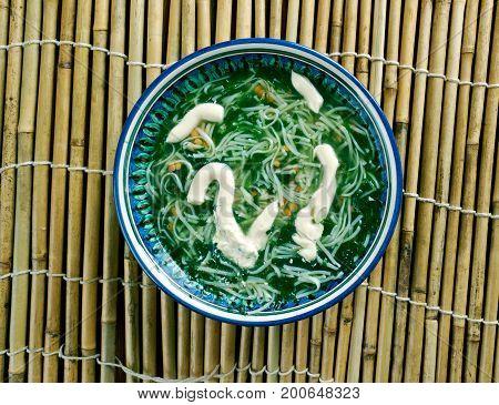 Ash reshteh Persian Noodle Soup.Iranian cuisine. Crispy Parmesan Garlic Roasted Baby Potatoes