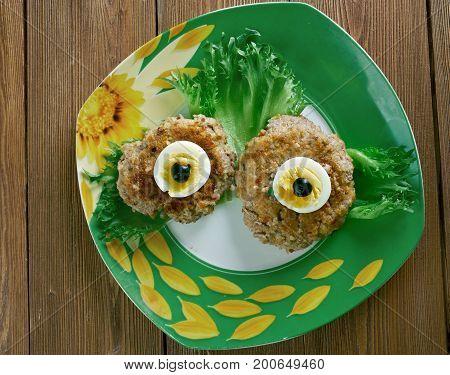 Spooky Eyeballs - Halloween party appetizer Crispy Parmesan Garlic Roasted Baby Potatoes