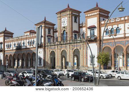 Train station of Jerez de la Frontera, Spain, photo taken on August 5, 2017