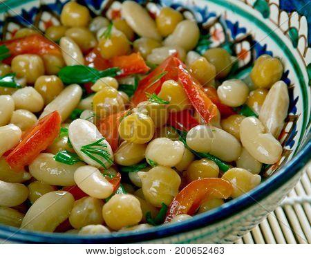 Pakistani Mixed Bean Salad
