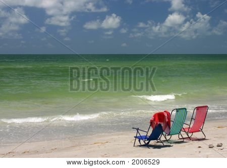 Three Chairs In Paradise