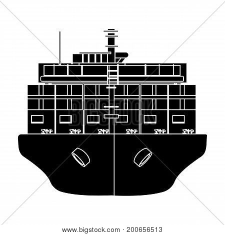 Transportation of goods by sea. Transportation and delivery single icon in black style isometric vector symbol stock illustration .