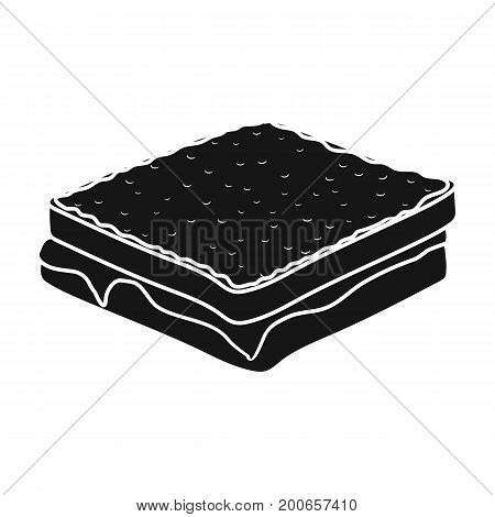 Tasty food, a sandwich with chocolate.Food single icon in black style vector symbol stock illustration .